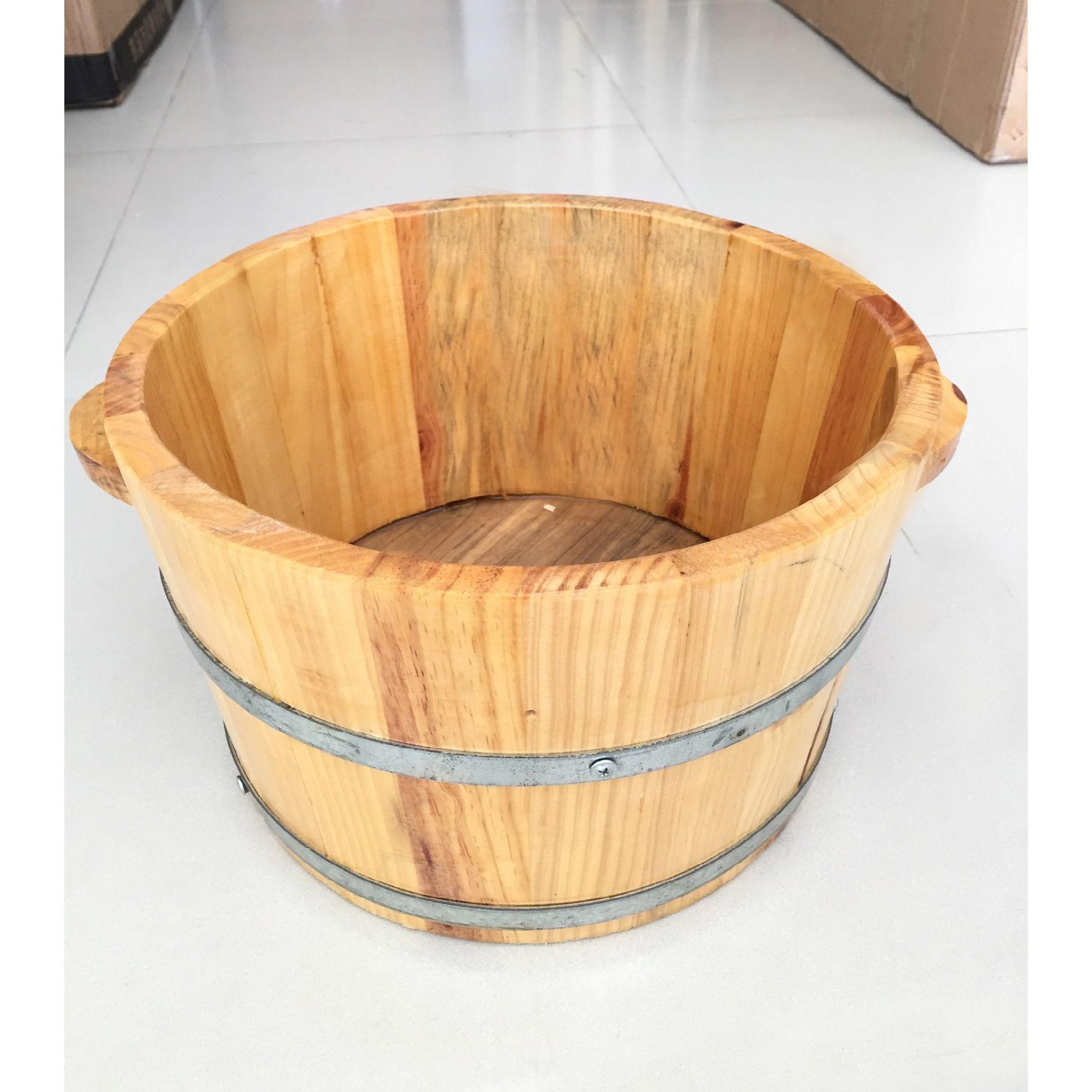 Ngâm chân trong chậu gỗ để làm gì?