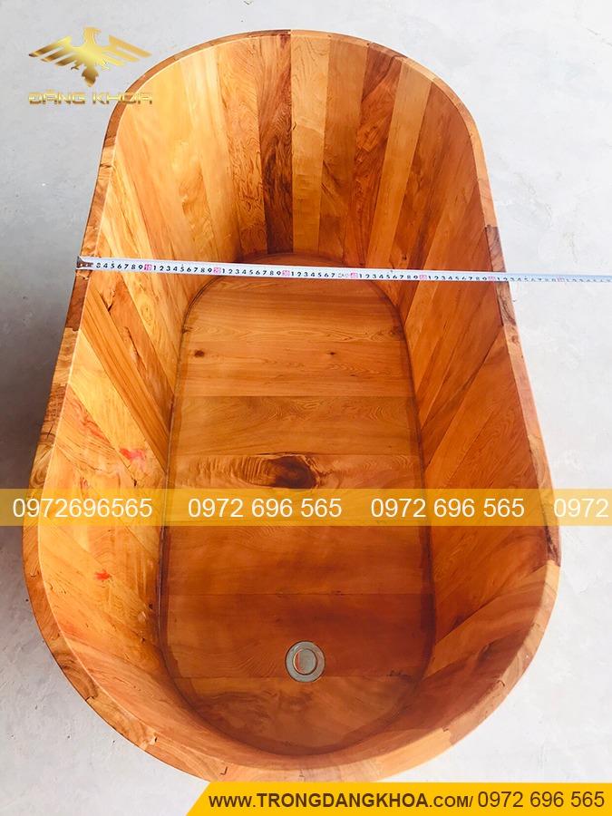 Bồn Tắm Gỗ Pơ Mu 110cm