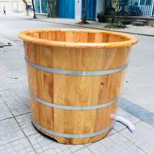 Giới thiệu chung về bồn tắm tròn gỗ sồi bo viền