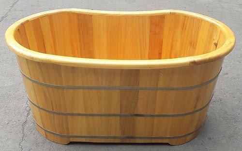 Bồn tắm tròn gỗ sồi bo viền để làm gì?
