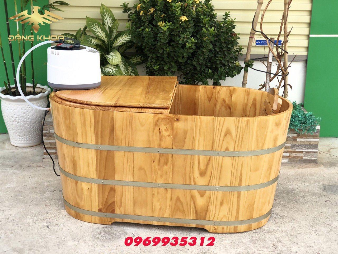 Bồn tắm gỗ tròn 2021