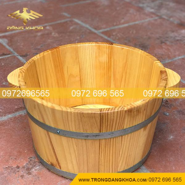 Bán chậu gỗ ngâm chân gỗ thông