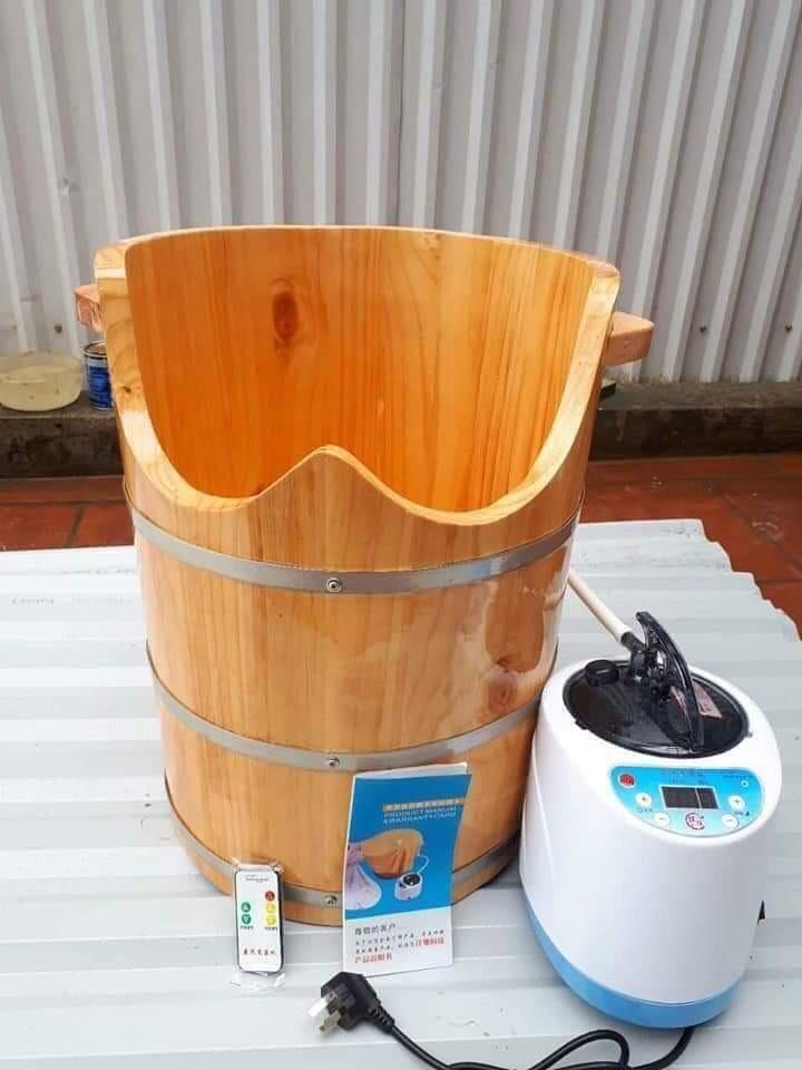 Chậu gỗ ngâm chân thải độc
