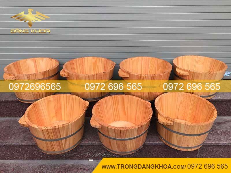 Một số lợi ích khi ngâm chân bằng chậu gỗ